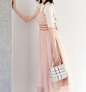 遠藤さくら着用のピンク色チュールワンピースが可愛い♪ #リリーブラウン