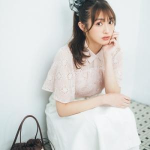 渡辺梨加さんが着こなす♡ レトロ可愛い「カットワークレース」ガーリーコーデ♪