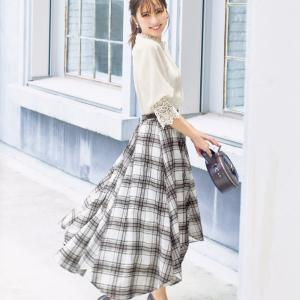 #石川恋 さん着用 秋のおめかし計画に欠かせない進化系ほの甘デザイン♡