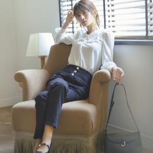 このモデルさん綺麗♪都会的な雰囲気のキレイめカジュアルにぴったりです。