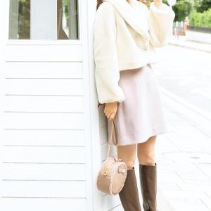 白クマさん気分のコート^^♪大きなえりは可愛く見えるだけじゃなく小顔効果も!モデル/鈴木愛理