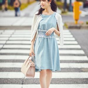 女子アナ風美人ワンピースコーデ例♪【SALE】【半額】