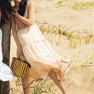 夏休みは、着心地のいいロングワンピと一緒にリゾートへGO~♪