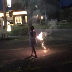初・花火〜!