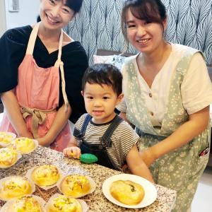 パン作りとお菓子作り。3歳男子の活躍♪