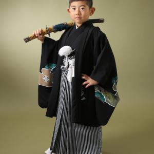 七五三5歳正絹お着物でかっこよく撮影♪|狛江市世田谷区喜多見フォトスタジオリーフ