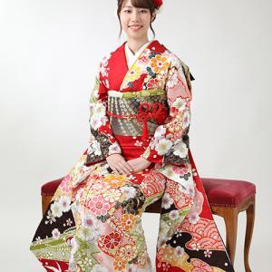 オーダーレンタル着物で成人式! 狛江市世田谷区喜多見フォトスタジオリーフ
