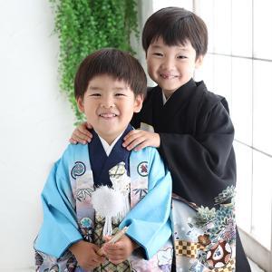 3歳と5歳の男の子で七五三! 狛江市世田谷区喜多見フォトスタジオリーフ