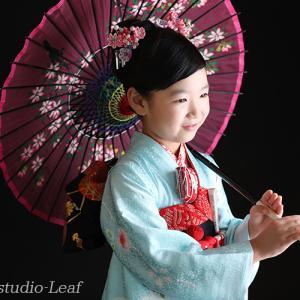 7歳七五三着物とドレス撮影でにっこにこ! 狛江市世田谷区喜多見フォトスタジオリーフ