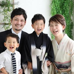 七五三5歳家族で一緒にご撮影! 狛江市世田谷区喜多見フォトスタジオリーフ