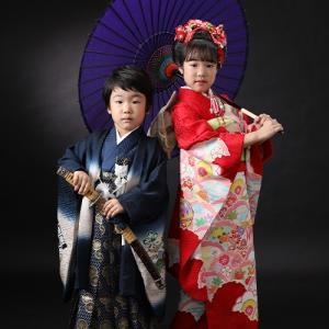 七五三7歳5歳正絹着物でご撮影♪ 狛江市世田谷区喜多見フォトスタジオリーフ