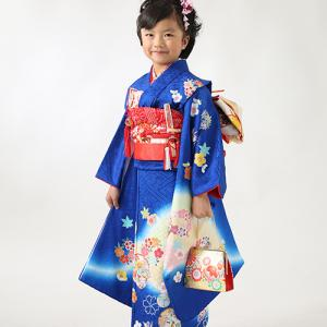 姉妹揃って青の着物で七五三撮影!|狛江市世田谷区喜多見フォトスタジオリーフ