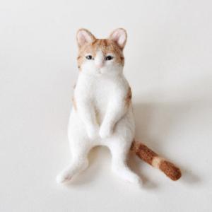 リラックス猫/羊毛フェルト