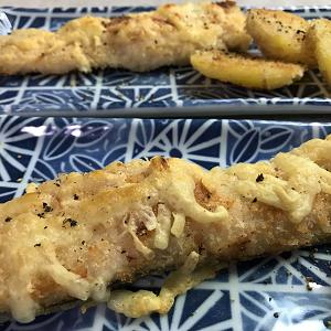 生鮭とポテトのパン粉チーズ焼き♪