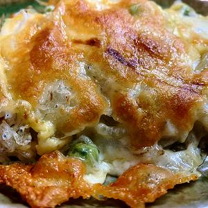 玉ねぎとシラスのチーズ焼き&唐辛子を干して♪
