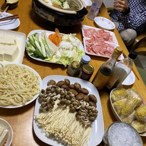京君ファミリーと鍋で夕飯&皮ごとのさつま芋羊羹♪