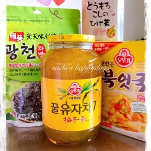 朝から『BTS, THE BEST』♪♪韓国食材をいろいろGETしました♡