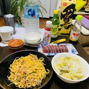 朝です、昨晩の晩御飯です。