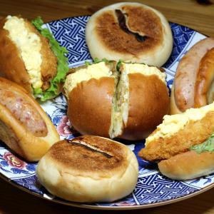 パンステージ メリー(松山市)さんの「チキン南蛮サンド」「フィッシュサンド」「スーパーブー」他。