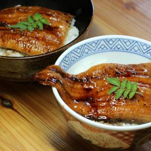 鹿児島県薩摩川内産ウナギの蒲焼き丼。