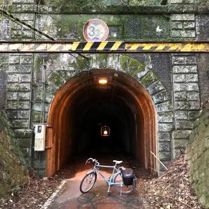 ランドナーで宇和盆地から「三瓶隧道」(みかめずいどう)を越える。