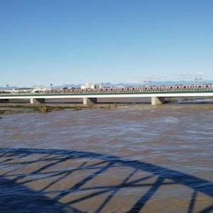 台風17号 多摩川氾濫
