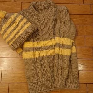 編み物のセーターと帽子 完成!