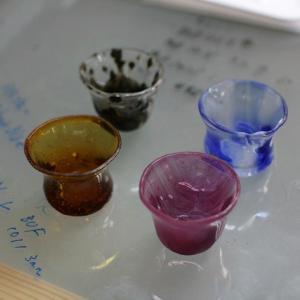生徒さんの小さなグラス