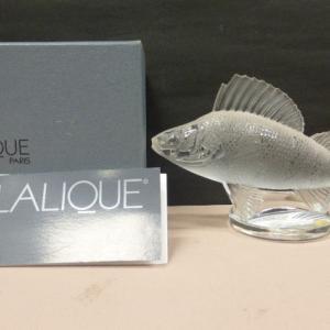 ラリック クリスタル LALIQUE PERCH パーチ カーマスコット 置物 魚