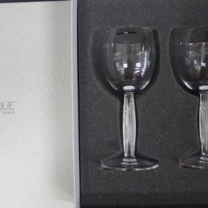 ラリック クリスタル  LALIQUE ディアマン  Diamond  ワイングラス