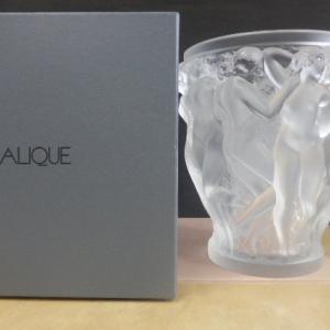 ラリック クリスタル LALIQUE クリスタル 花瓶 バコーントゥ フラワーベース 花器