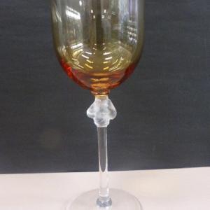 ラリック クリスタル LALIQUE クリスタルガラス ロクサーヌ ワイングラス 2色