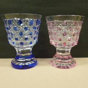 薩摩切子 切子 夫婦切子 紅藍 ペア酒器 2客セット グラス 高さ8cm グラス 冷酒
