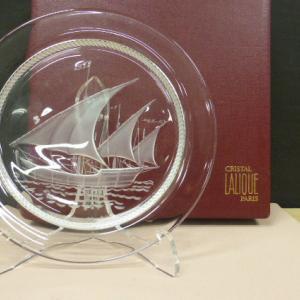 ラリック  クリスタルガラス Lalique クリスタル 船皿 プレート 飾皿
