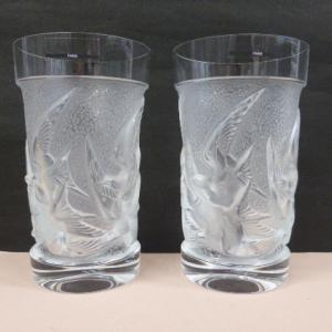 ラリック クリスタル LALIQUE イロンデル ツバメ タンブラー グラス ハイボールグラス