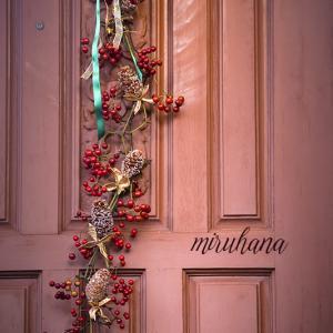 クリスマス*ドア飾り&チョコレートコスモス♪
