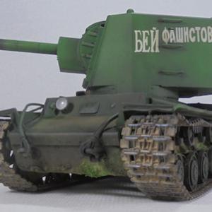 トランペッター 1/35 ソビエト軍 KV-2重戦車 先行量産型 完成