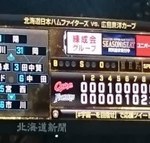 日本シリーズ第4戦~2発で連勝タイに 中田同点弾!レアードが決めた!