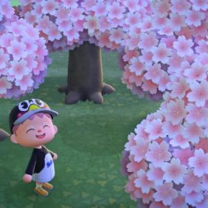 あつ森日記。4月に入り桜が満開。そしてイースターイベント開始。