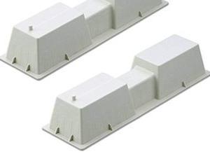 エアコン工事のグレードUP、コンクリート架台に。