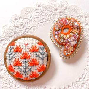 刺繍ブローチのプレゼント ★ 長女の入学と今夏までの私の活動について