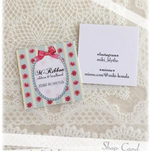 Cuteなリボンを使ったショップカード、Thank Youカードとしても♪[S-301b]