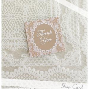 ショップカード、Thank Youカードとして♪[S-119]