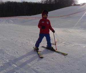 念願のスキー!
