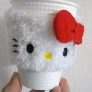 キティーちゃんとコーヒータイムと常連のおじいちゃん♪