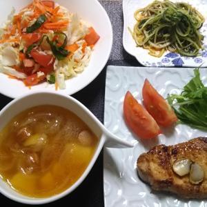 和歌山県産カジキマグロのステーキ風漬け焼きなおうちごはん♪