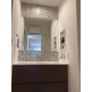 洗面台の掃除 & プチ模様替え