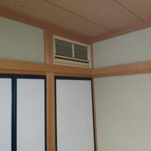 三菱霧ヶ峰和室埋込エアコン工事