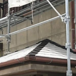 外壁塗装工事順調に進んで、屋根から壁へ