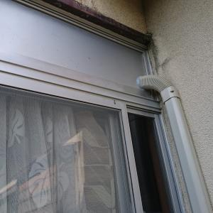 窓を1カ所アルミパネルにしてエアコン取付け